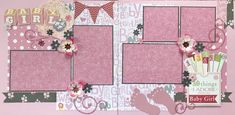 SCRAPPY HAPPY DESIGNS Kits and Scrapbook Layouts for sale. Baby Girl scrapbook page