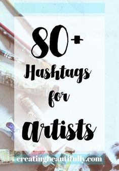 This list of hashtags for artists includes general art hashtags, as well as some broken down by artistic category. Find hashtags that best fit your art. Craft Business, Creative Business, Online Business, Business Tips, Etsy Business, Business Essentials, Business Planner, Selling Art Online, Online Art