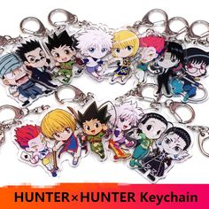 Hunter x Hunter Anime Acrylic Keychain Killua Zoldyck Chains Two Keychain sided Anime Hunter, Hunter X Hunter, Acrylic Keychains, Acrylic Charms, Killua, Anime Lanyard, Anime Shop Online, Anime Store, Cosplay