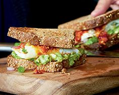 Western Avocado Toast Sandwich | Food and Drink