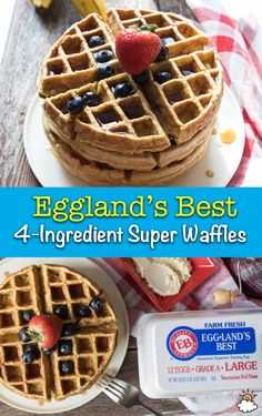 Start your day out right with this protein-packed super waffle recipe from Eggland's Best. Breakfast never tasted this good (and healthy)!