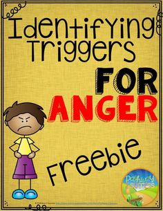Free worksheets to help identify triggers for anger. Great anger management freebie. - repinned by @PediaStaff – Please Visit  ht.ly/63sNt for all our pediatric therapy pins
