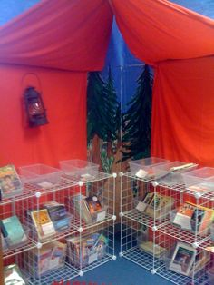camping theme classroom pictures | Reading tent in the camping-theme classroom. on Twitpic