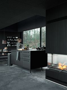 + #kitchen #fireplace #industrial | Vipp