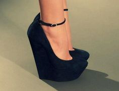 black, fashion, heels, high heels, pretty