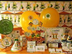 Gemini Printable Zodiac Party Supplies | Astrology Sign Party Decorations