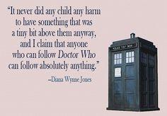 Dianna Wynne Jones on Doctor Who. :)