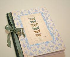 Composition Notebook Blue vintage moths. by Tesorobella on Etsy  #journal #notebook