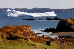 Newfoundland is one of the best places in the world to view icebergs. Each year an average of 250 icebergs drift along in the cold waters of the Labrador Current onto the Grand Banks, a route known as Iceberg Alley. Newfoundland Icebergs, Newfoundland Canada, Newfoundland And Labrador, Northern Lights Canada, O Canada, The Mountains Are Calling, Natural Scenery, Beautiful Places In The World, Beautiful Islands