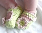 Crochet PATTERN BABY Booties Sweet & Simple Mary Jane Baby Shoes - INSTANT Download
