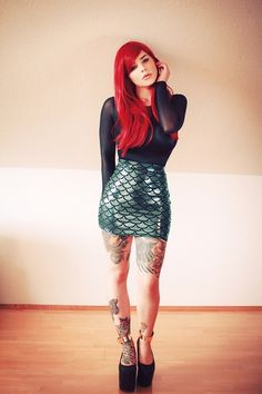 Inked Girls <-- love the tattoos but mostly the outfit!!!