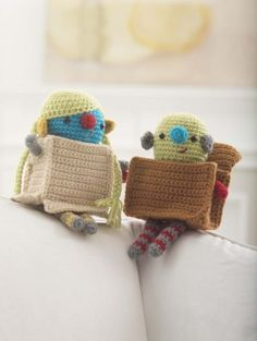 Crochet these cute amigurumi made with Vanna's Choice inspired by the BoxTrolls movie coming out later this month.