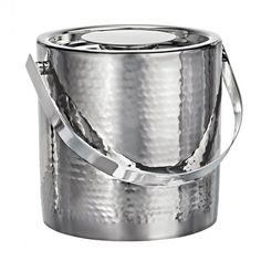 Metal Ice Buckets | Vintage Stainless Steel Ice Bucket with Tongs - Marquis by Waterford ...