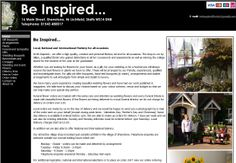 Be Inspired Florist in Lichfield before we developed their new website.