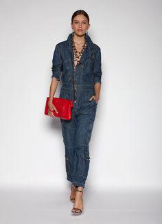 Polo Ralph Lauren, 2016 Ready To Wear - #Denim #jumpsuit