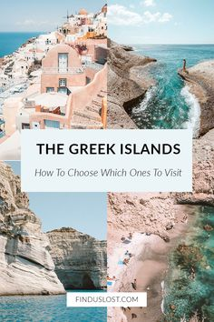 Greek Islands: How To Choose Which Ones To Visit - Wondering which Greek Island to visit this summer? This guide covers the best Greek Islands (from Santorini's famous cliffs to Milos' moonscape beaches) and what they're known for, plus photos and tips f Greek Islands To Visit, Best Greek Islands, Greece Islands, Island Hopping Greece, Best Island Vacation, Greece Vacation, Greece Travel, Greece Honeymoon, Greece Trip