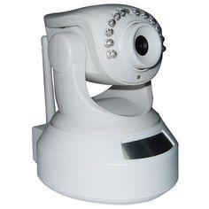 H.264 Wireless Indoor IP Camera Pan Tilt - Easy Installation, Plug and Play, Support iPhone Connection