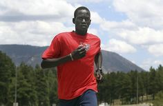"""""""If I ran for Sudan, I would be betraying my people. I would be dishonoring the two million people who died for our freedom. I want to bring honor to my country. People who just want glory, the spotlight of the Olympics, they don't care about other people. I'm fighting for independent status because I do care. When I run, I want people to see me and say, 'He is from South Sudan.'""""  - Guor Marial, running under the Independent Olympic Athletes flag in London, 2012"""