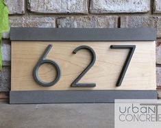 Wilshire address plaque lawn marker house sign numbers wall custom made 2 o House Address Sign, Address Plaque, Address Signs, Address Numbers, Wood Plugs, Personalized Housewarming Gifts, Wood Screws, House Numbers, Home Decor Kitchen