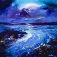 Moonrise and Incoming Tide Kintra Isle of Islay - John Lowrie Morrison OBE - Jolomo - Hebridean Moons Isle Of Islay, Paintings I Love, Contemporary Artists, Impressionist, Painting & Drawing, Concept Art, Oil Pastels, Exhibitions, Gallery