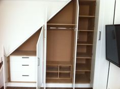 California Closets Under Stairs : California Closets Under Stairs Built In Wardrobe Under Stairs Picture . california,closets,under stairs Staircase Storage, Loft Storage, Stair Storage, Staircase Design, Built In Storage, Stair Design, Modern Staircase, Closet Under Stairs, Space Under Stairs