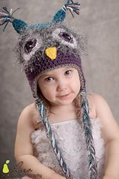 Fuzzy Owl Beanie ALL SIZES by Boomer Beanies  Isn't the cutest ugliest hat you have ever seen??  I think it's adorable :)