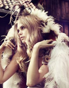 I love feathers. I use them everywhere. I decorate with them and use them in my hair...JW - #bornbohemian