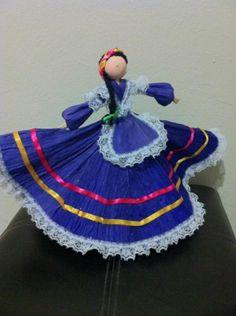 Muñeca de Hojas de Maíz (Lila)   Reynosa   iBazar