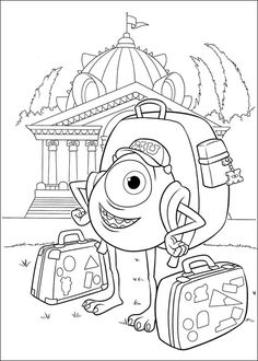 Drawings to print Monsters university. http://www.coloringpages.pequescuela.com/coloring-painting-print-monsters-university11.html
