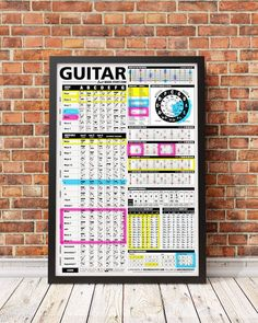 Music Theory Guitar, Guitar Sheet Music, Guitar Chords And Scales, Circle Of Fifths, Guitar Posters, Pentatonic Scale, Blues Scale, Learning Tools, Music Stuff