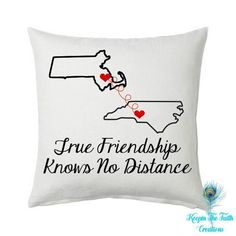 Shop Keepin The Faith Creations True Friendship Pillow Cover to show your best friend that True Friendship Knows No Distance no matter where you are in the world. Cute Best Friend Gifts, Love My Best Friend, Presents For Best Friends, Bff Gifts, Birthday Presents For Mom, Birthday Gifts For Best Friend, Husband Birthday, Girl Friendship, Friendship Gifts
