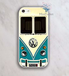 Oh my gosh! I must buy this phone case!! VW Minibus Teal Iphone Case - iPhone 4 Case, iPhone 4s Case, iPhone 5 case. via Etsy.