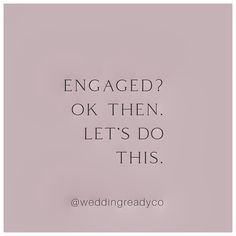 """Wedding Ready Co. on Instagram: """"With Wedding Ready Co. . . #weddingplanningmadeeasy #weddingplanningbegins #isaidyes💍"""" Wedding Tips, Wedding Planning, I Said Yes, Make It Simple, Let It Be, Instagram, Marriage Tips"""