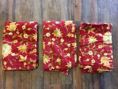 POTTERY BARN Pampalore Floral Red Set of 3 Standard Shams 55% Linen 45% Cotton #PotteryBarn Pottery Barn Kids, Bedding Collections, Floral Tie, Red, Cotton
