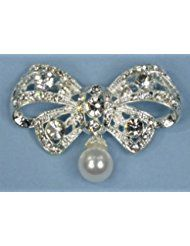 Enchanting Brooch Pin of Rhinestone-Encrusted Bowtie... ** This is an Amazon Affiliate link. Be sure to check out this awesome product.