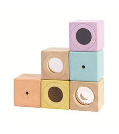 Design and style for the modern family. Sensory Blocks, Sensory Toys, Toddler Toys, Baby Toys, Pastel Colors, Pastels, Kinesthetic Learning, Plan Toys, Rubber Tree