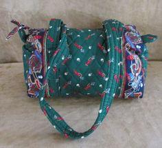Vera Bradley purse Golf Green retired NWOT shoulder bag womens barrel vintage #VeraBradley #ShoulderBag