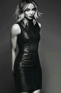 Ciara Grey Fashion, Leather Fashion, Womens Fashion, Hot Outfits, Fall Outfits, Ciara Style, Leather Dresses, Leather Outfits, Dresses With Leggings