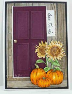 Great door card using Spellbinders long rectangle dies