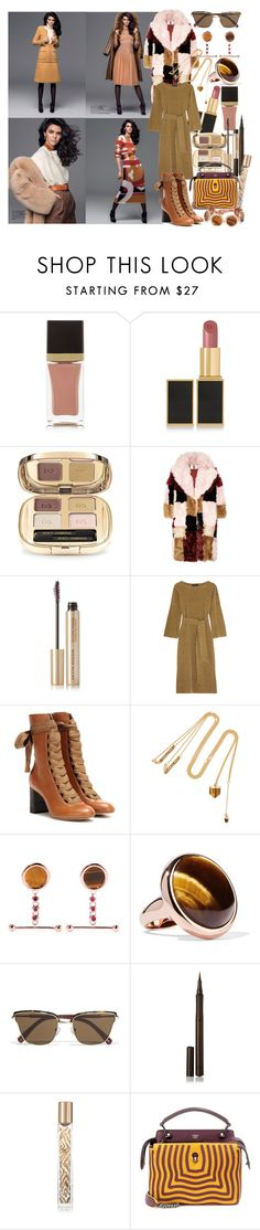 """""""I hope you live a life you're proud of, and if you find that you're not, i hope you have the strength to start over"""" by brownish ❤ liked on Polyvore featuring Tom Ford, Dolce&Gabbana, Topshop Unique, Kevyn Aucoin, Vanessa Seward, Chloé, Cornelia Webb, Eddie Borgo, Elizabeth and James and Burberry"""