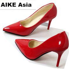 2019 caliente de las mujeres Zapatos de punta bombas de Zapatos de vestir  de cuero Zapatos acc505976077
