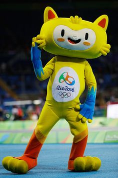#RIO2016 Mascot Vinicius entertains the crowd on Day 7 of the Rio 2016 Olympic Games at the Olympic Stadium on August 12 2016 in Rio de Janeiro Brazil