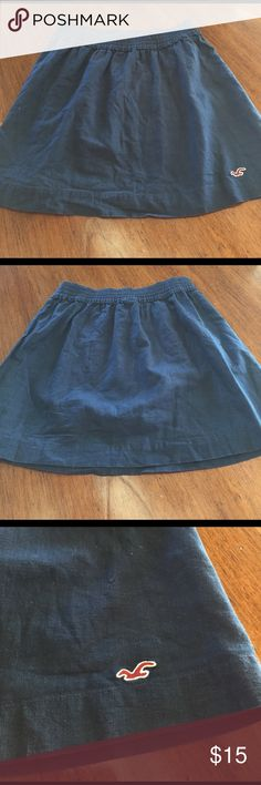 Hollister Cotton Skirt 100% Cotton. Navy blue, lined skirt. Size Medium. Hollister brand. Hollister Skirts Circle & Skater