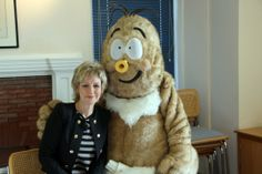 Sally Magnusson and Horace the Haggis - via www.museumdiary.com