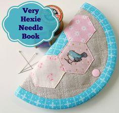 Very Hexie Needle-book - detailed tutorial @ Very Berry Handmade