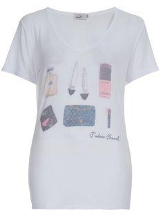 SISTER Camiseta Branca Estampada.