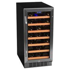 EdgeStar CWR301SZ 15 Inch Wide 30 Bottle Built-In Wine Cooler
