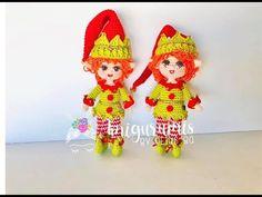 Elfa mini en amigurumi, amigurumis by Petus - YouTube Elfa, Crochet Hats, Mini, Christmas Ornaments, Holiday Decor, Youtube, Crochet Toys, How To Knit, Amigurumi