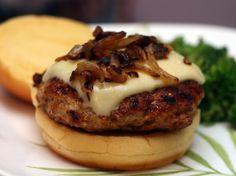 Pretzel & Mustard Spiked Chicken Burgers