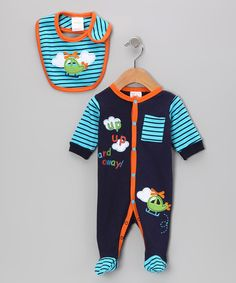 'Up, Up and Away!' Footie & Bib by Mon Cheri Baby on #zulily today!